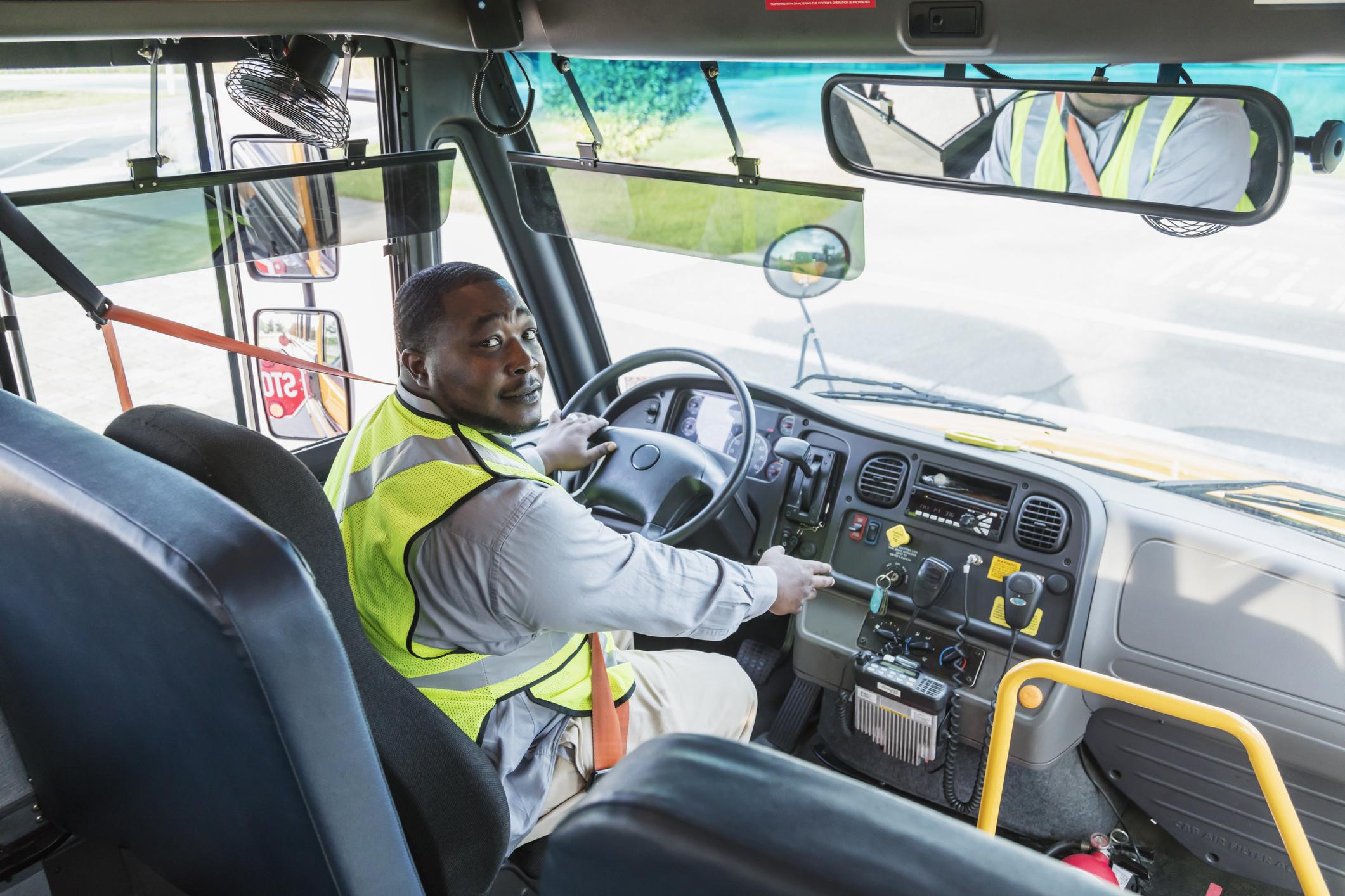 Older bus driver